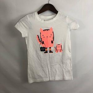 Cat & Jack Halloween T-Shirt Top Graphic Cats L